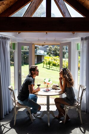 Deluxe Lodge Room 4 - the perfect spot to sit and enjoy breakfast