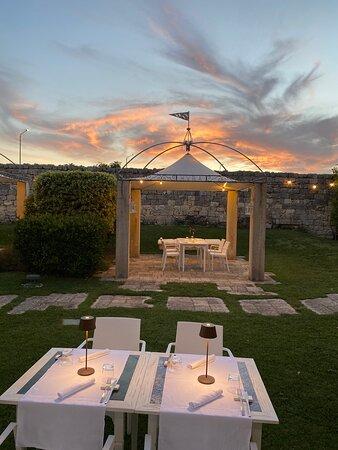 Il nostro giardino al tramonto