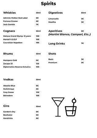 Notre menu!  Our menu !