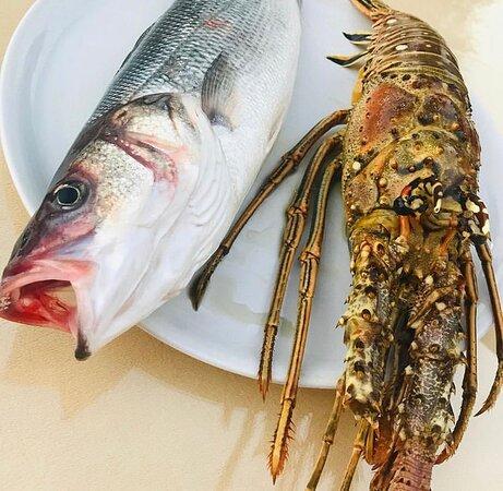 Fish.fresh.restaurant. Taverna sandri. Sarande.Albania
