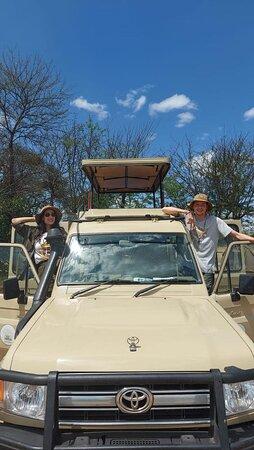 After a monring game drive at Serengeti!