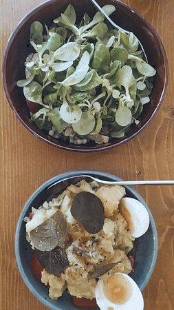 cous cous and potatosalad.