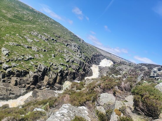 Great views all the way as you climb up the rocks beside Cauldron Snout, scrambling from the bottom all the way to the top