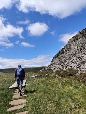 walking towards Cauldron Snout along Pennine Way, coming from High Force