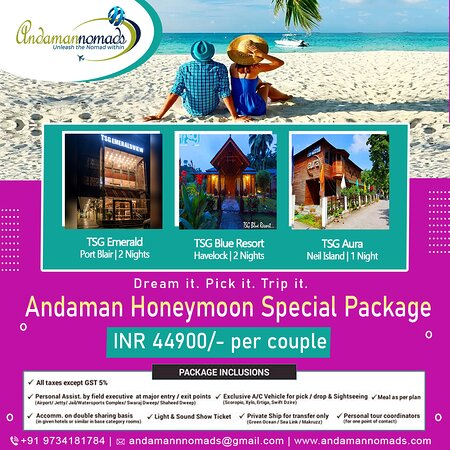 Andaman and Nicobar Islands, India: Trending Andaman Honeymoon Packages✌ 👉Make your Honeymoon Special with Andaman Nomads 👉Explore your dream vacation with Andaman Nomads the best rated travel agency of India. Special deals and offers for newly wed Couples. Lowest price guaranteed. Get Instant Quotes. Get Best Deals. Call Now.  #andaman #andamandiaries #travel #andamanislands #tsg #india #vacations  #followforfollowback #follow #followforlike #followers #followme #follow4followback #following #follower #followtrain #likeforlikes