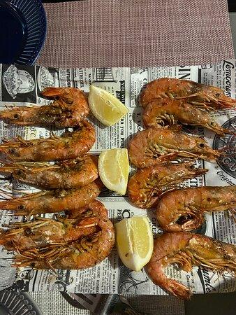 Grilled prawns 🍤