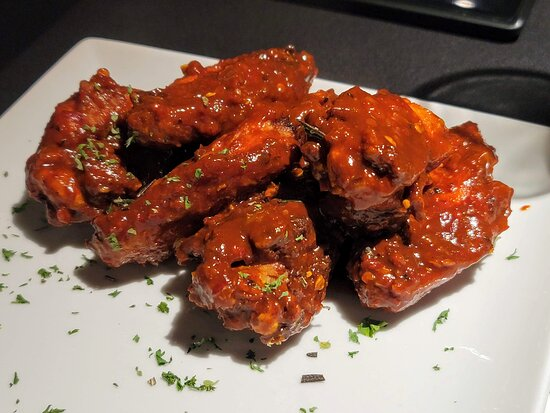 Sweet & spicy wings made extra spicy for my hubby, he was a happy man and said they were the best wings he has ever had.