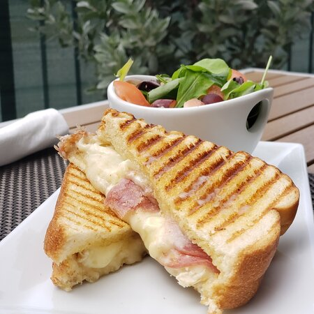Truffle Grilled Cheese - Brie Cheese, Truffle Oil and Salami