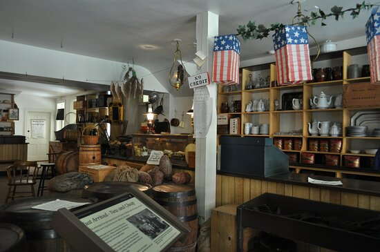 Display to depict 1850s