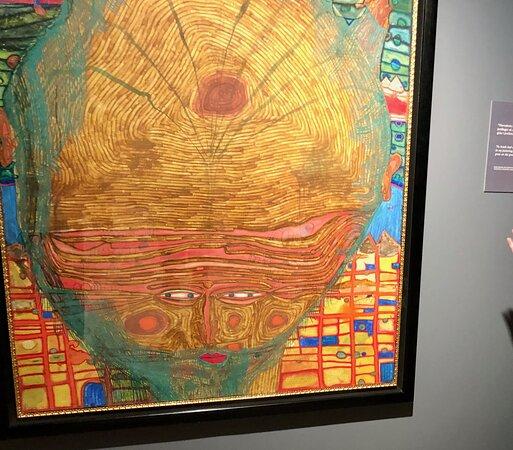 Hundertwasser exhibition at Nordiska Akvarellmuseet 2021.