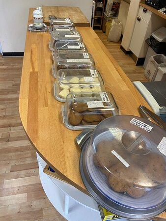 Our homemade cakes - all reduced sugar.  Gluten free, and vegan options always available.