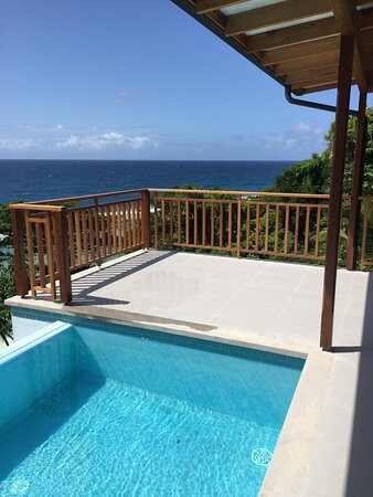 Infinity pool at our Superior 2 bedroom chalet.