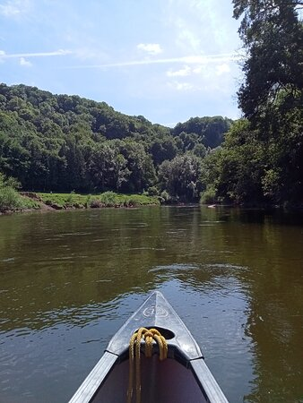 Canoeing down the River Wye