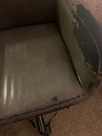 dilapidated seat in the room