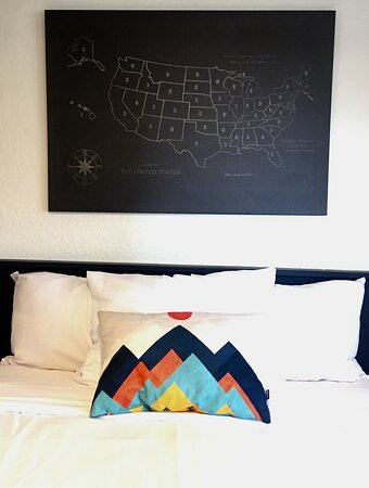 Bed and US map
