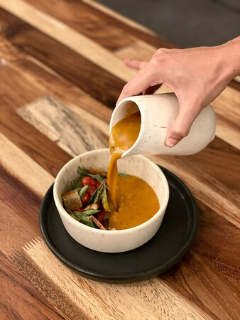 Sopa de tomate riñón