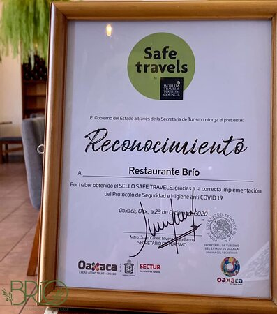 Reconocimiento Safe Travels