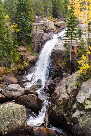 Alberta Falls from Bear Lake Trailhead