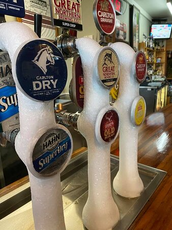 Wide selection of tap beer, with 16 different taps.