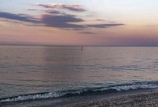 Agiokampos, Griechenland: Η θάλασσα ήρεμη και γαλήνια