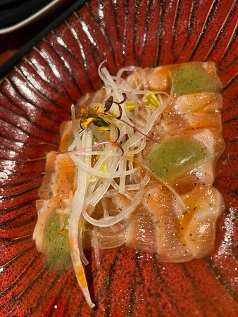 salmon carpaccio,