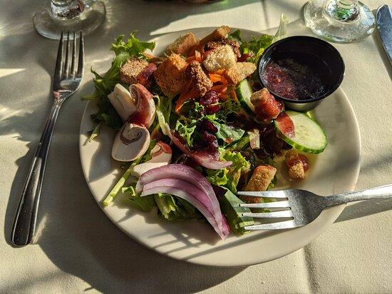 Salad was fresh, Raspberry Vinaigrette was tasty!