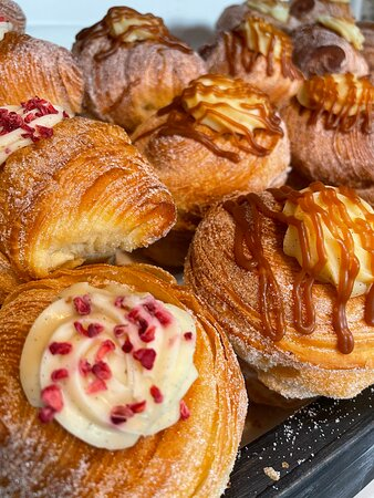 Cruffins and pastries