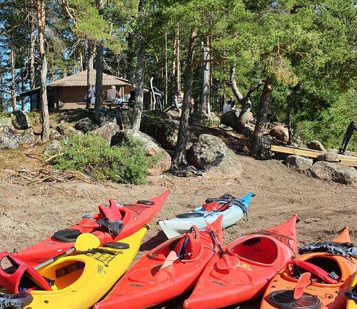 Kayaking in archipelago