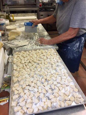 fabrication de gnocchis