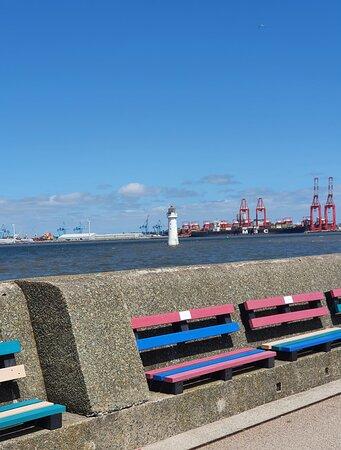Landmark in the River Mersey.