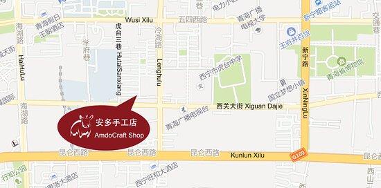 Map of Amdocraft shop area