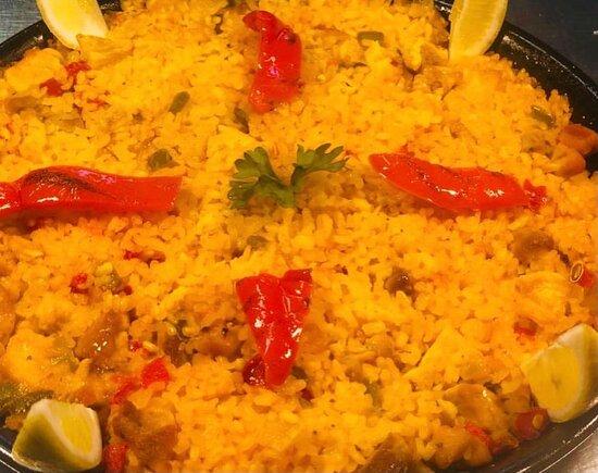 Homemade Paella for our Tapas Thursday