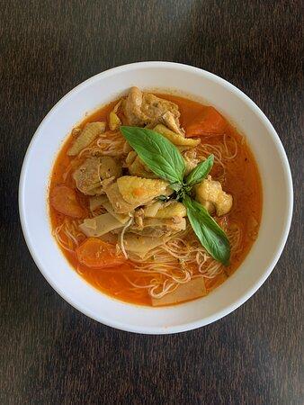 Curry vermicelles et poulet