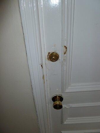 Dodgy looking door and locks.