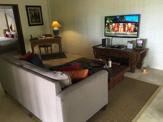 Lounge area inside the villa