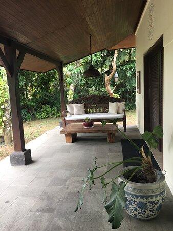 Outside veranda area
