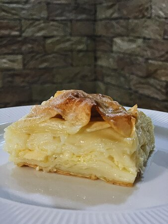 Achma - tender dough, a crispy top, and lots of cheese in between.