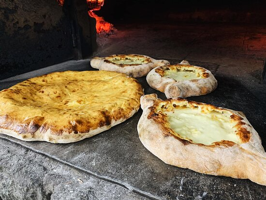 Yummy combination of dough, cheese and butter