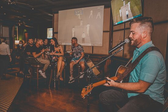Live music and big screens to watch the game