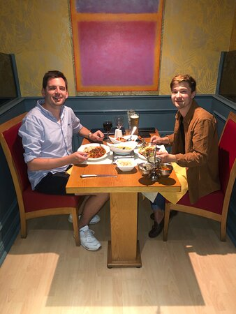 We have been delivering our food to our customers for quite a while, we have told them to come down and dine in with us, surprisingly they are here! Enjoying a lovely evening with us! Thank you guys for having us and we enjoyed having you guys here too!
