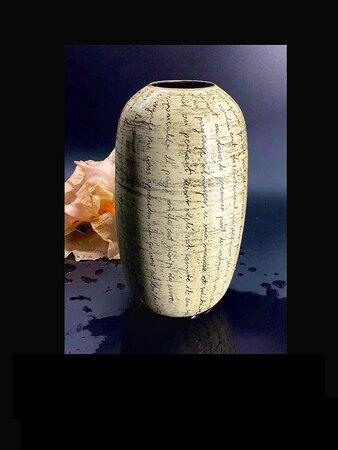 Vase grès. Textes de Nicolas Bouvier, extraits choisis par l'artiste