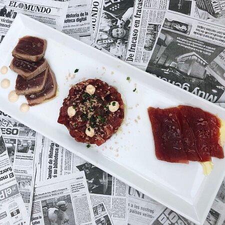 Tataki, tartar y sashimi de atún salvaje