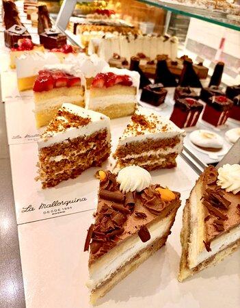 Porciones de tartas