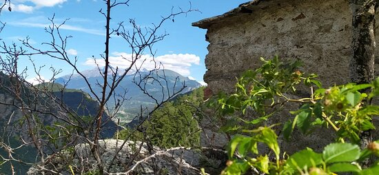 Derby-Villaret, Italie: Veduta dall'antico villaggio di Veulotta, prima di giungere a Derby.