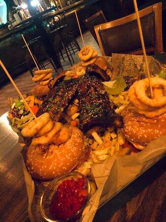 4 Signature House Burger 4 Rack of Ribs Best Platter