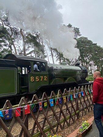 Entering Holt on Steam train