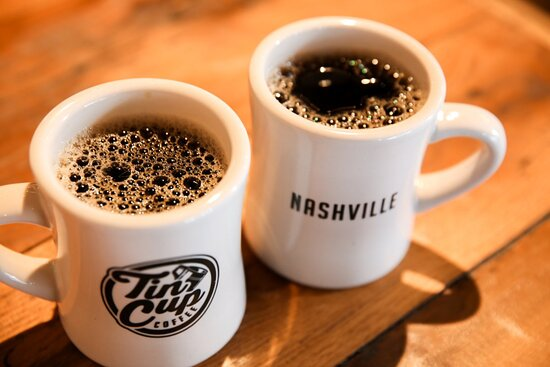 Meet me at Tin Cup Coffee.