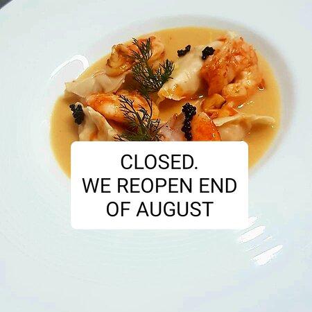We are closed see you end of August. Estamos cerrados nos vemos a finales de agosto