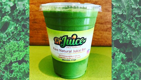 One of our most popular Superfood Smoothies is the Dr. Juice Signature.  The base is fresh pressed Red Apple, Green Apple and Cucumber then blended with Kale, Spinach, Pineapple and Banana.  A perfect balance of greens and fruits!