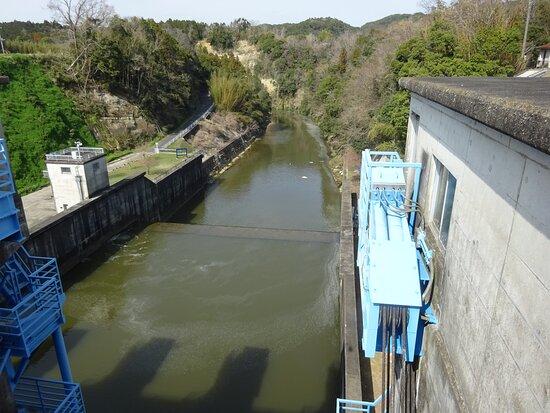 堤体から見た下流方面